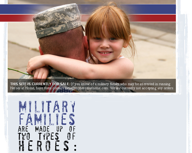 Military families have two types of heroes: